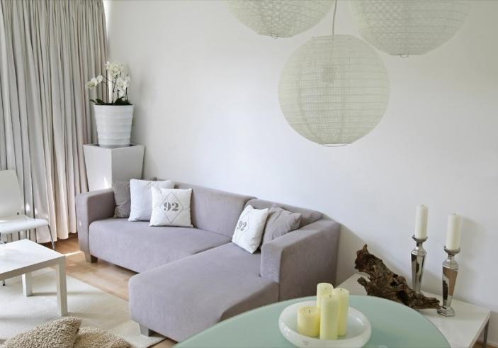 moderne woonkamer wit