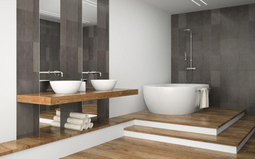 Badkamer inrichten slimme stylingtips inspiratie - Tegels badkamer vloer wit zwemwater ...