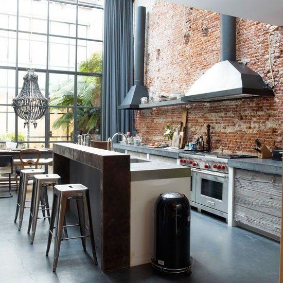Open Keuken Inspiratie : Rustic Industrial Kitchen Design
