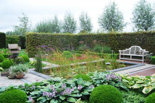 Landelijke tuin vijver